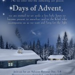 Advent retreat poster